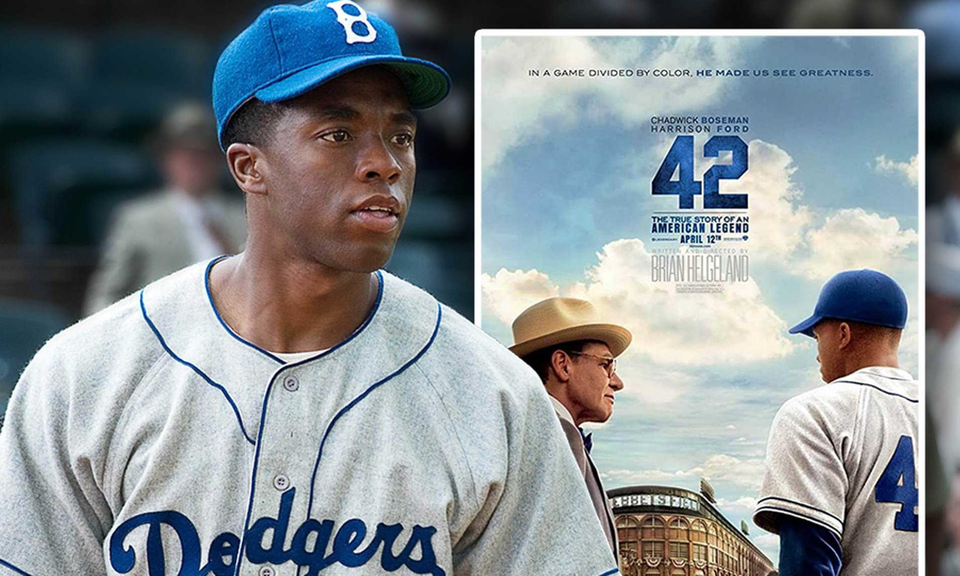 چدویک بوزمن در فیلم 42 نقش جکی رابینسن را ایفا می کند